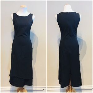 Comptoir des Cotonniers Black Midi Pocket Dress S